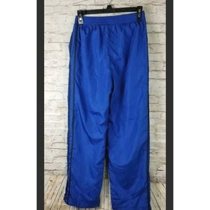 Starter Boys youth Track Pants Ankle Zip Blue Back
